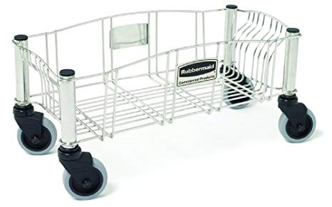 Rubbermaid Dolly for Slim Jim Container - Stainless Steel