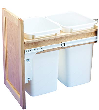 Rev-A-Shelf Dbl 35 QT Top Mount Waste Container, Natural